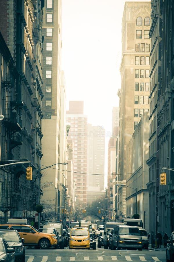 New York City Street Edited stock photo