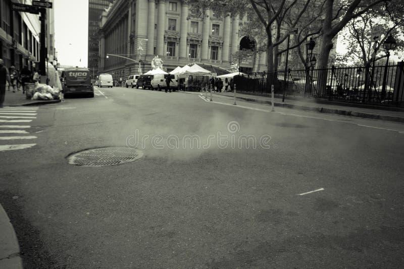 New York City street scene. New York City street sign scene landscape royalty free stock photo