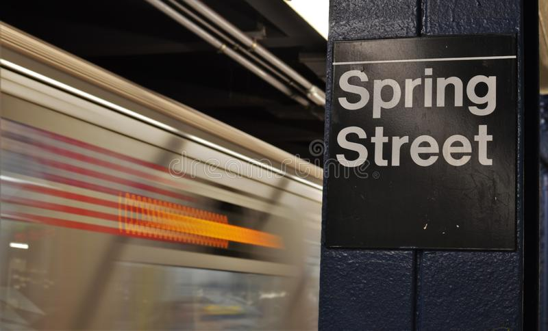 New York City Subway Spring Street Soho Downtown NYC Shopping Trendy Manhattan royalty free stock image