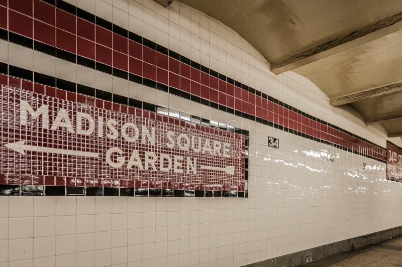 New York City subway, United States of America. New York City subway system, United States of America royalty free stock photography