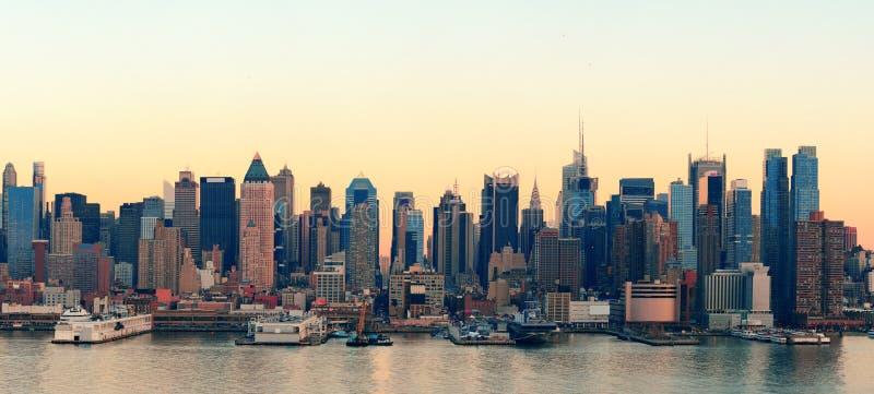New York City sunset royalty free stock photos