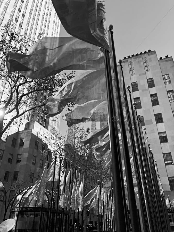 New York City svartvit Xmas-säsong arkivbild