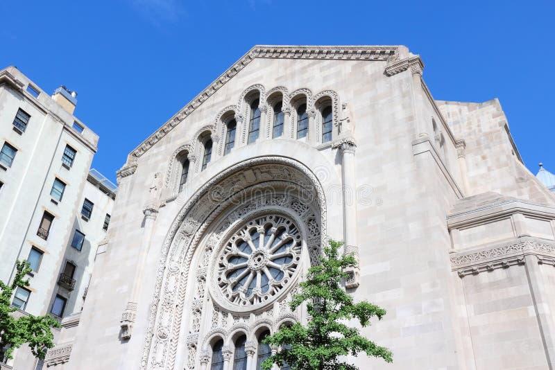 New York City synagoga royaltyfria foton