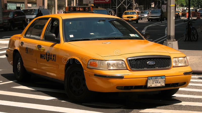 New York City taxi. Yellow New York City taxi / cab royalty free stock photo