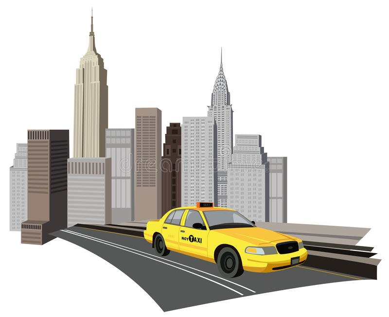 New York City Taxi stock illustration