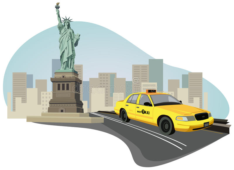 New York City Taxi vector illustration