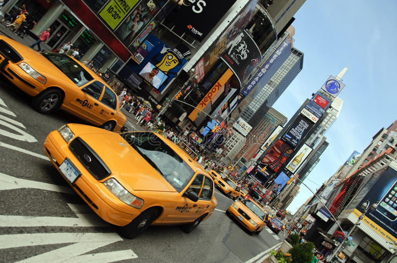 Download New York City Taxi, Times Square Editorial Photography - Image: 10719487