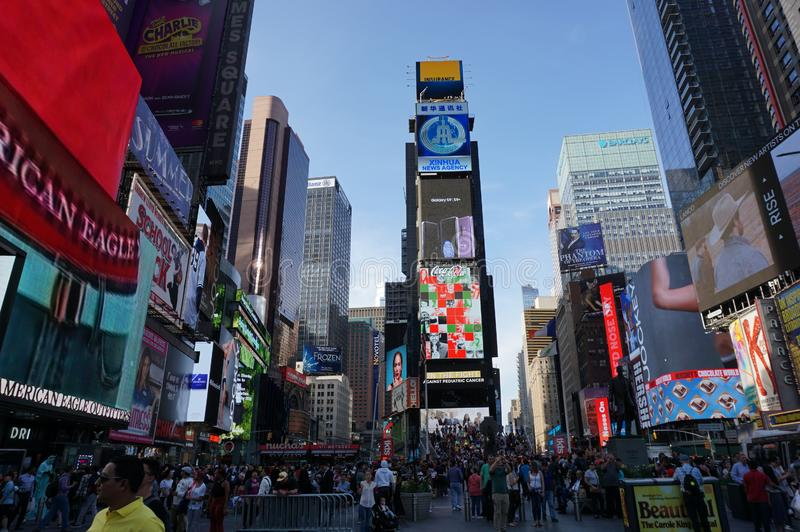 NEW YORK CITY : Times Square, featured with Broadway Th. stock images