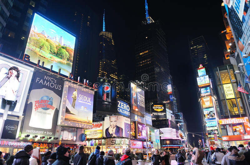 New York City Times Square at night stock image
