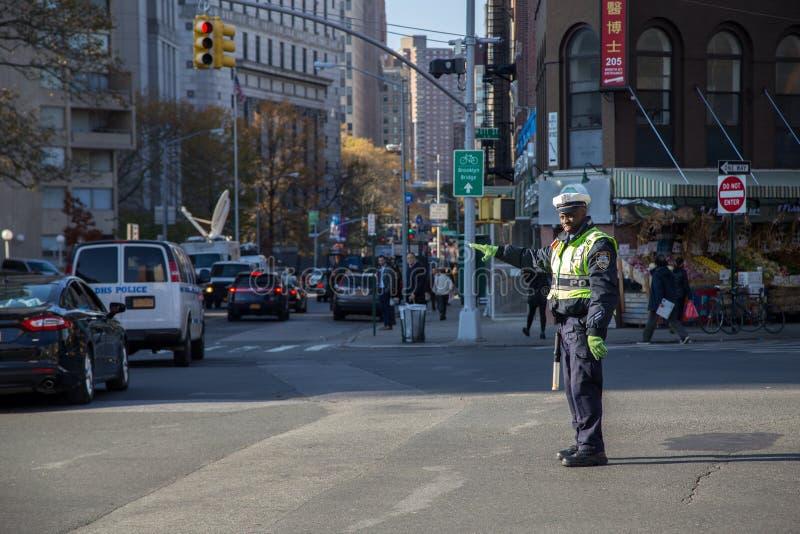 New York City trafiksnut fotografering för bildbyråer