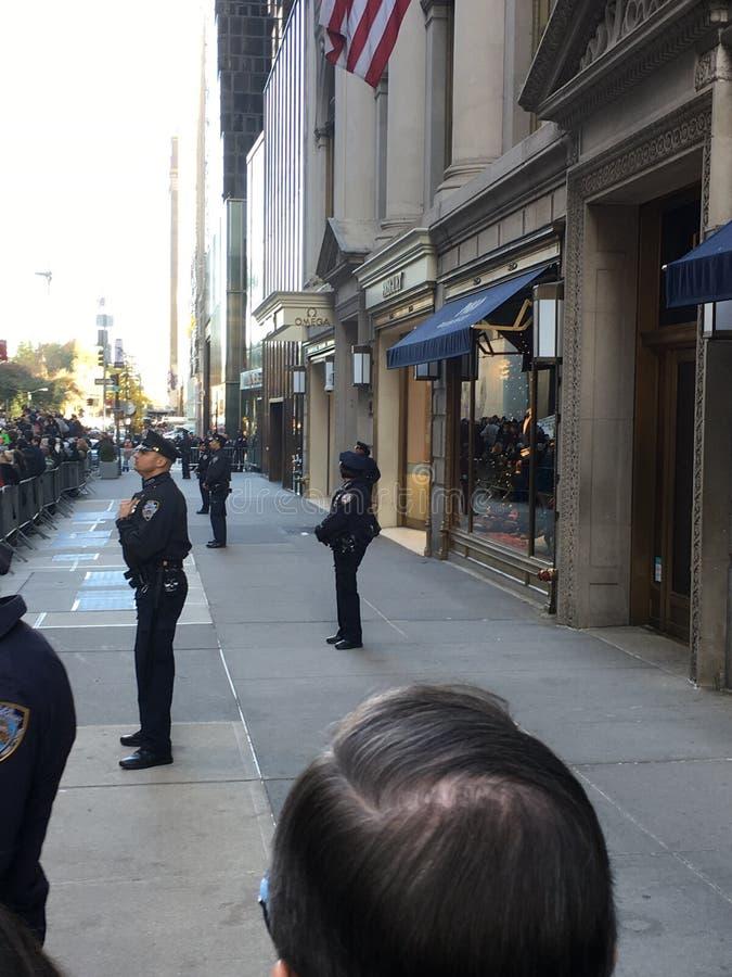 New York City; Trumfprotest arkivbilder