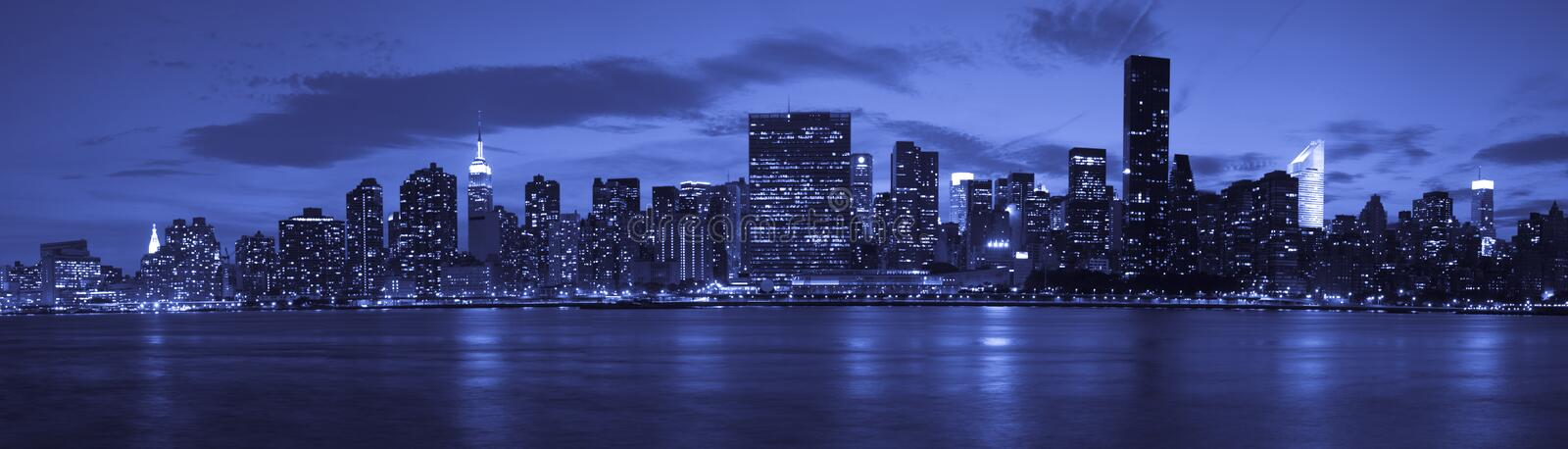 New York City at twilight royalty free stock images