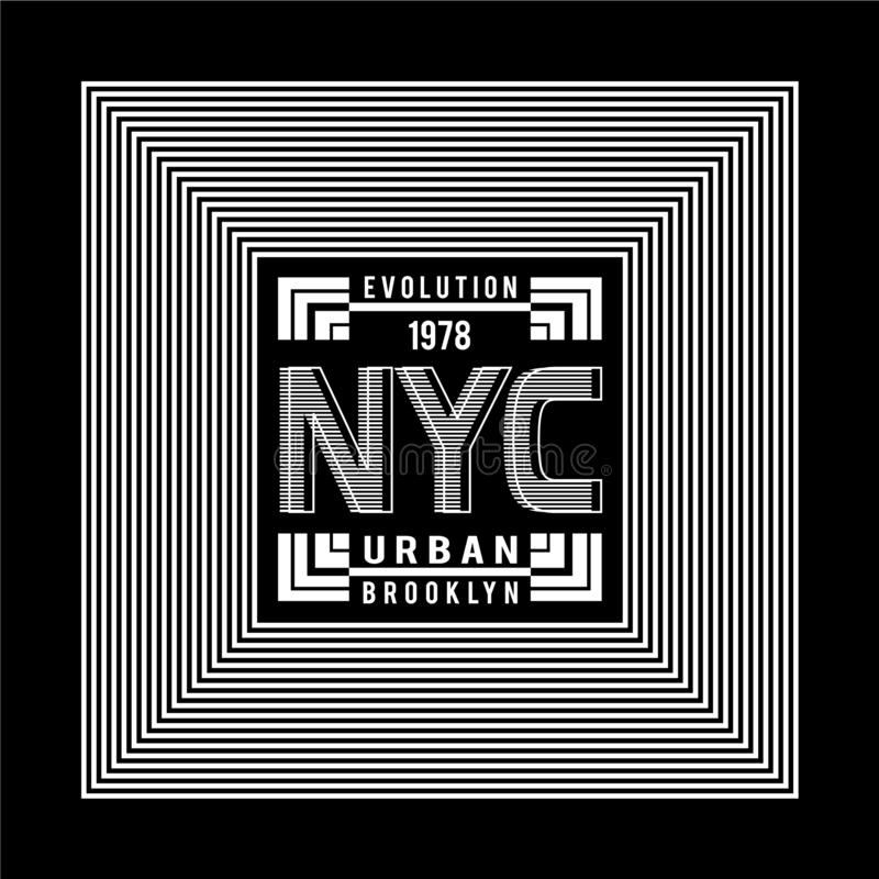 New York City typography design vector. New York City  typography design vector illustration for t shirt royalty free illustration