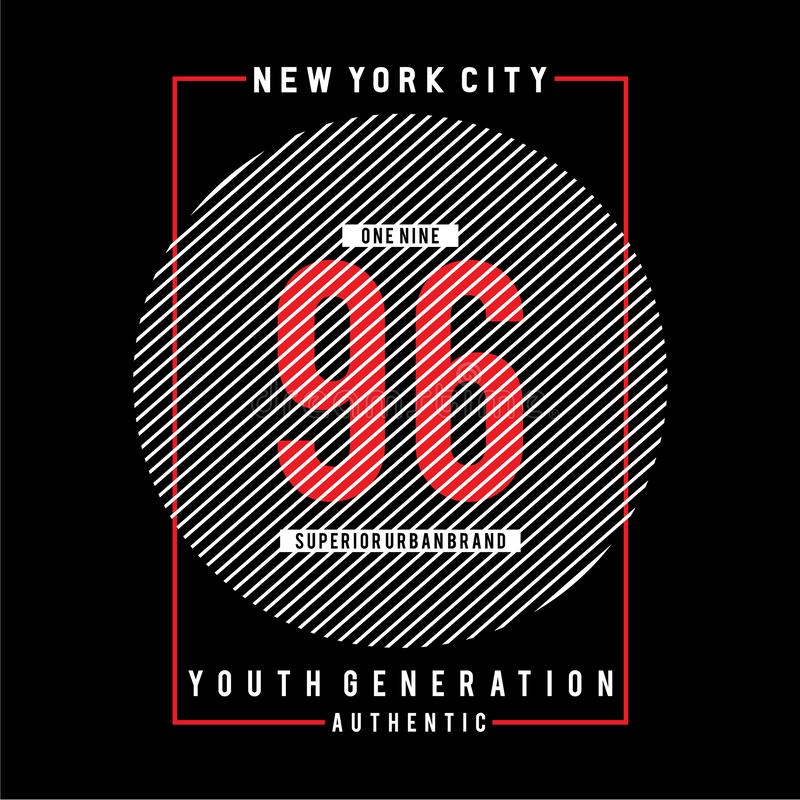 New York city typography graphic art,for t shirt design. Vector illustration idea royalty free illustration