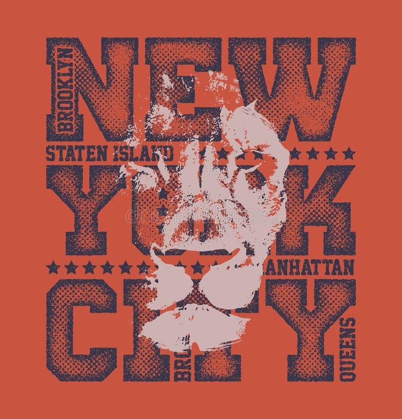 New York City Typography Graphics vector illustration