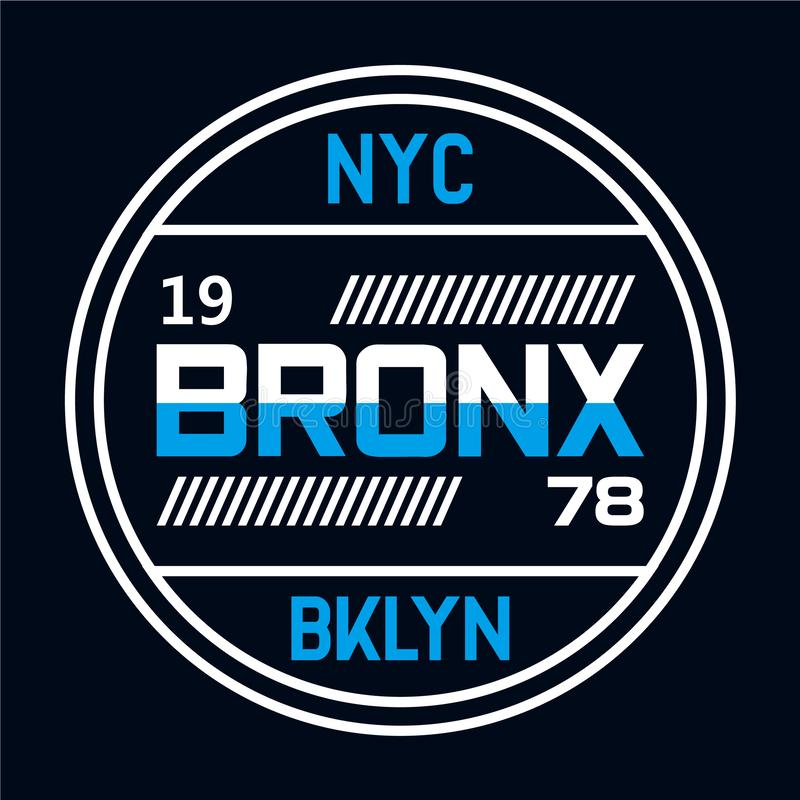 New York City typography, t-shirt graphics vector illustration
