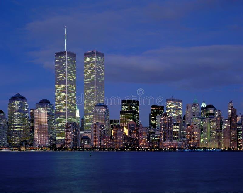 New York City und Welthandel stockfoto