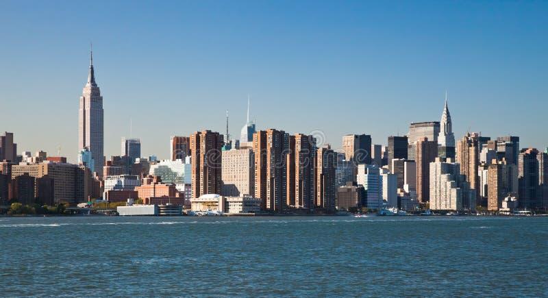 New York City Uptownhorisont Royaltyfri Foto