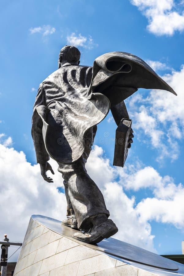 Statue of Adam Clayton Powell Jr. in Harlem, New York City, USA. New York City, USA - August 4, 2018: Bronze sculpture of Adam Clayton Powell Jr. in Harlem stock photos