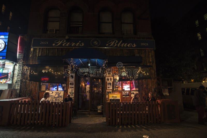 Facade of the Paris Blues Harlem in New York City, USA royalty free stock photos