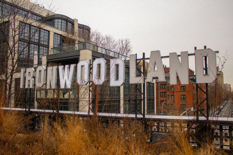Ironwoodland in the High Line Park stock photo