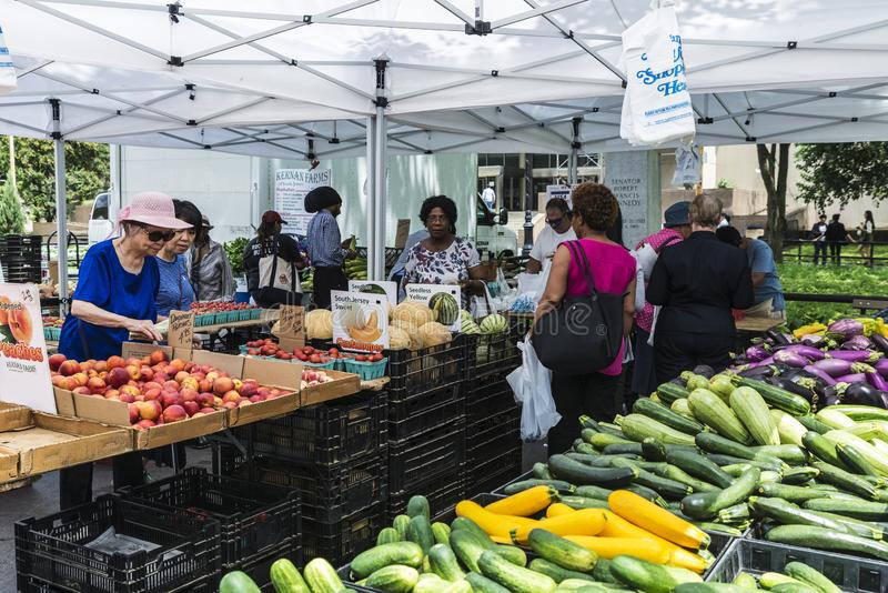 Farmers Market in Brooklyn in New York City, USA royalty free stock image