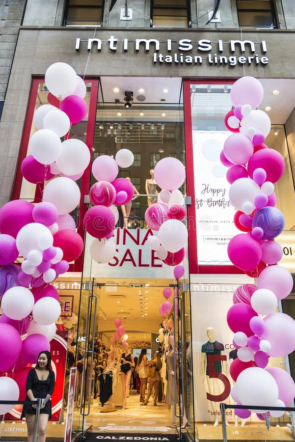 Intimissimi store in New York City, USA royalty free stock photo