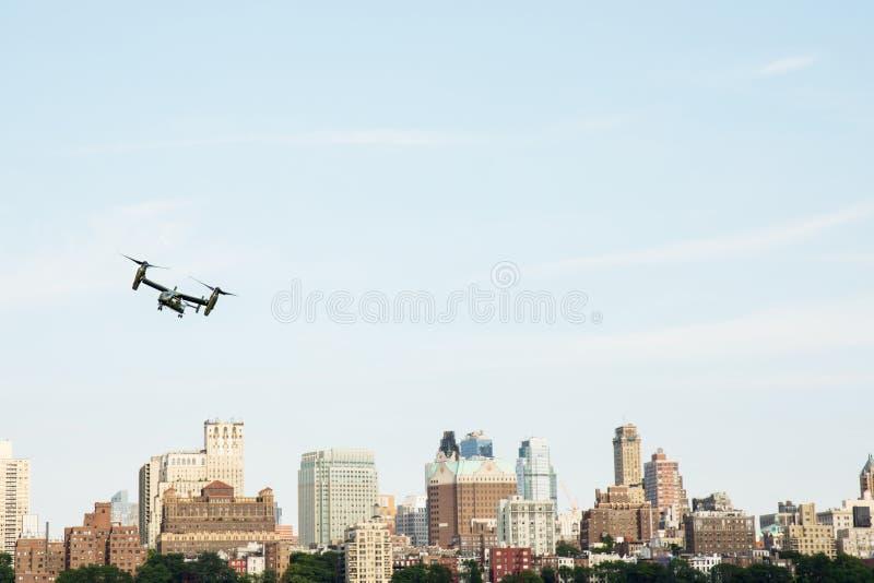 NEW YORK CITY, USA-July 5, 2015: MV-22 Osprey. Marine Helicopter royalty free stock images