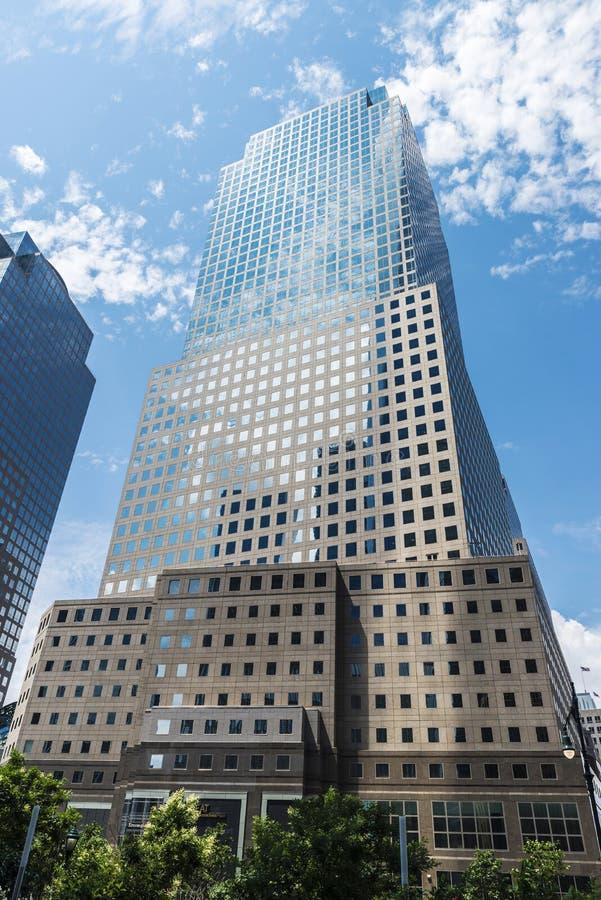 Three World Financial Center in Manhattan, New York City, USA. New York City, USA - July 27, 2018: Three World Financial Center in Financial District, also known royalty free stock photos
