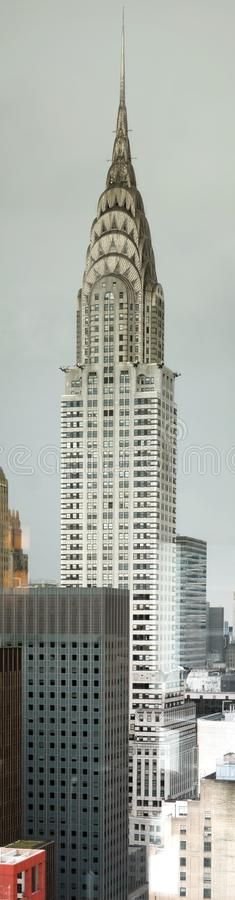 New York City, USA - July 15, 2015: : View of the Chrysler building. The Chrysler Building was designed by architect William Van Alena and it is NY City`s royalty free stock photo