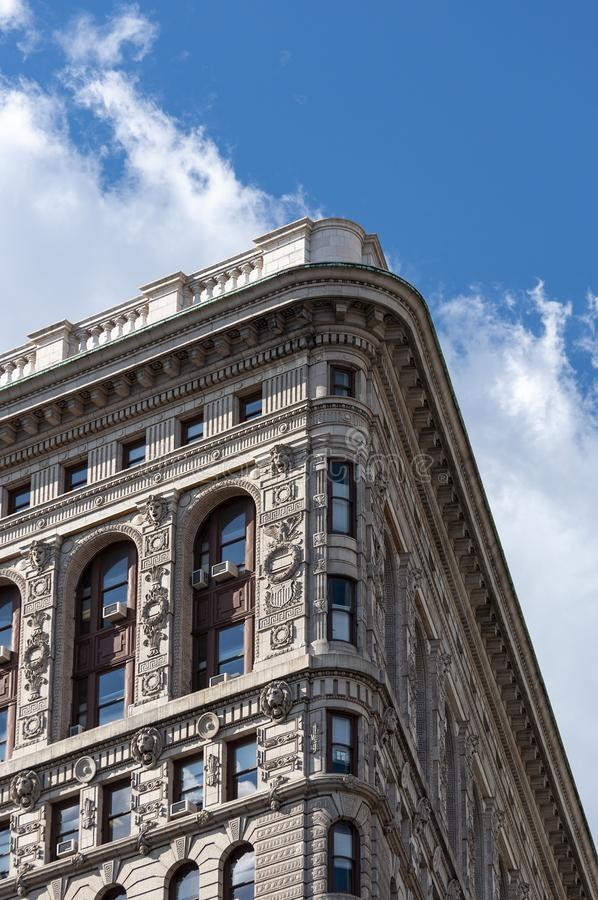 Detail of the Flatiron Building in New York City, USA stock photos