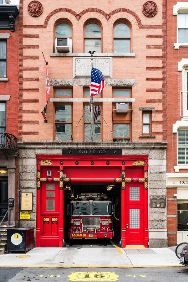 New York City Fire Department Squad Company building royalty free stock photography