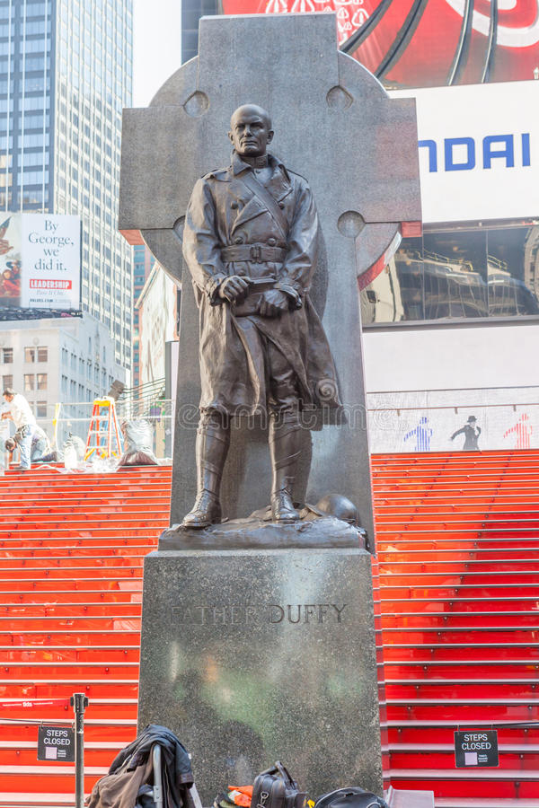 New York City, USA- May 20, 2014. Statue Of Father Francis D. Du royalty free stock photography