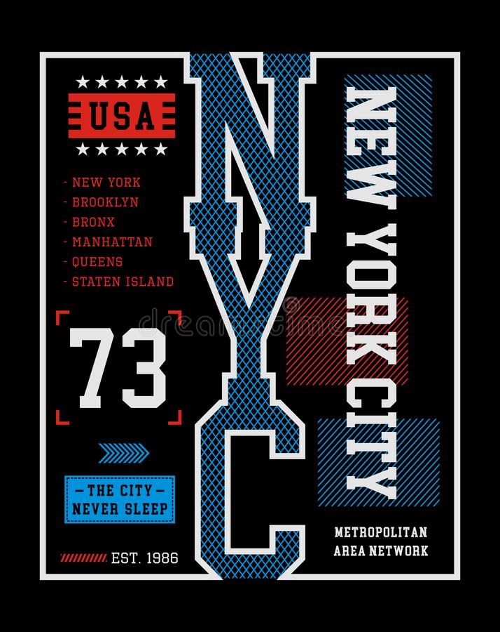 New York City vektorbild stock illustrationer