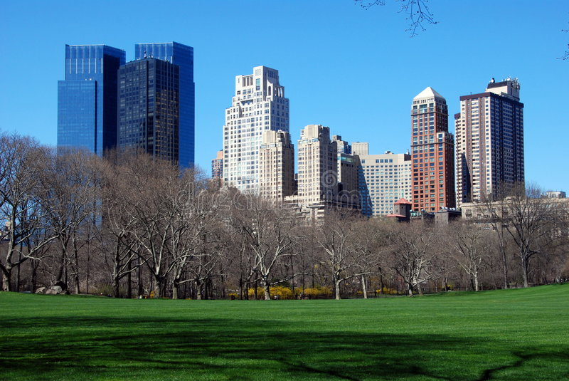 Download New York City: View Across Central Park Stock Photo - Image of west, central: 9184104