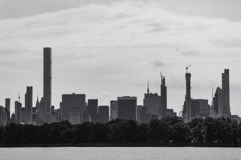 New York City Vista di Manhattan da Central Park immagine stock