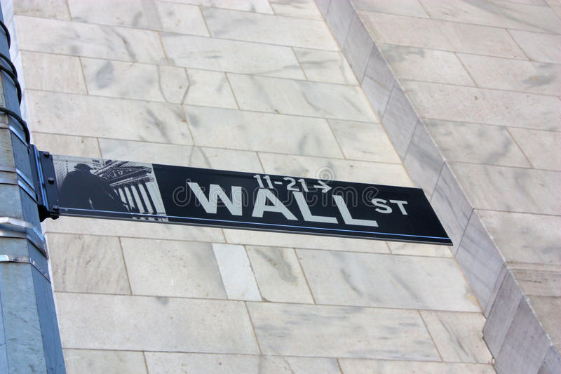 New York City Wall Street royalty free stock image