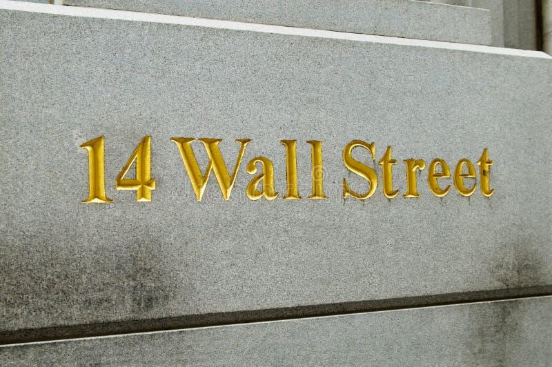 New York City Wall Street e borsa valori fotografia stock libera da diritti