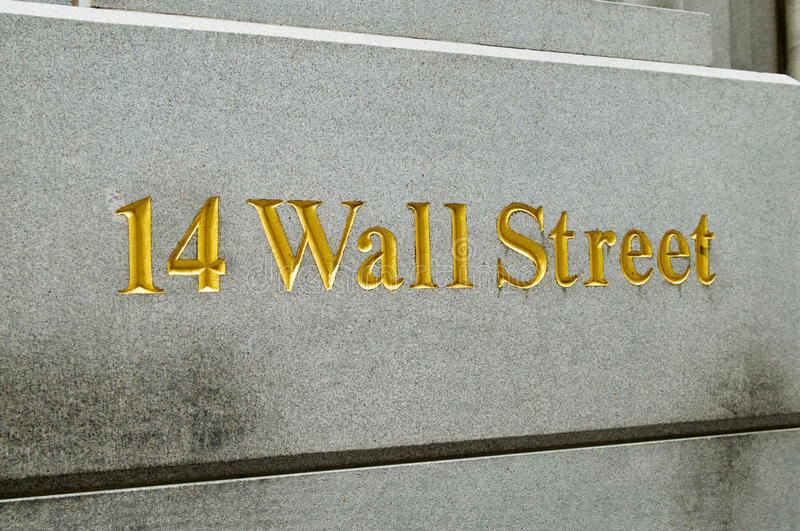 New York City Wall Street et échange courant photographie stock libre de droits