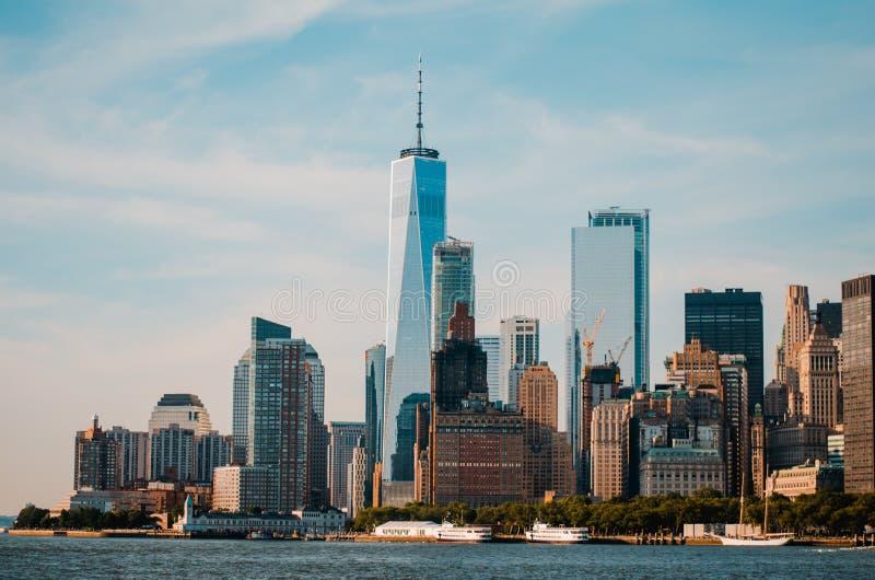 New- York Cityansicht, Handelsplatz lizenzfreies stockbild