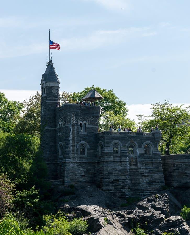 New York Citycentral park Belvedere-Schloss stockbild