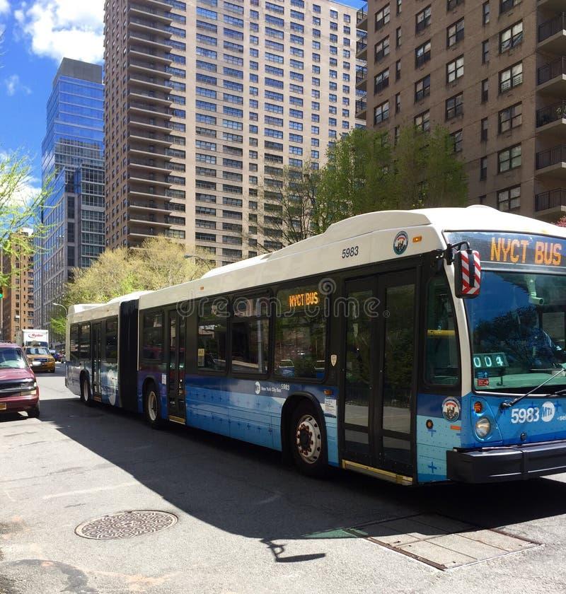 New- York Citydurchfahrtbus stockbilder