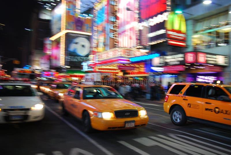 New- York Citygelbes Fahrerhaus lizenzfreies stockbild