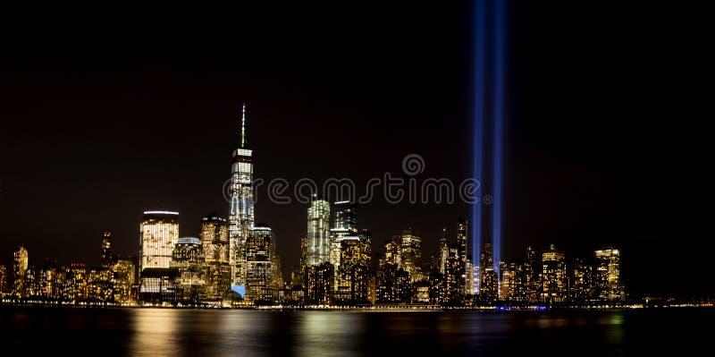 New- York Citylicht-Tribut lizenzfreie stockfotos