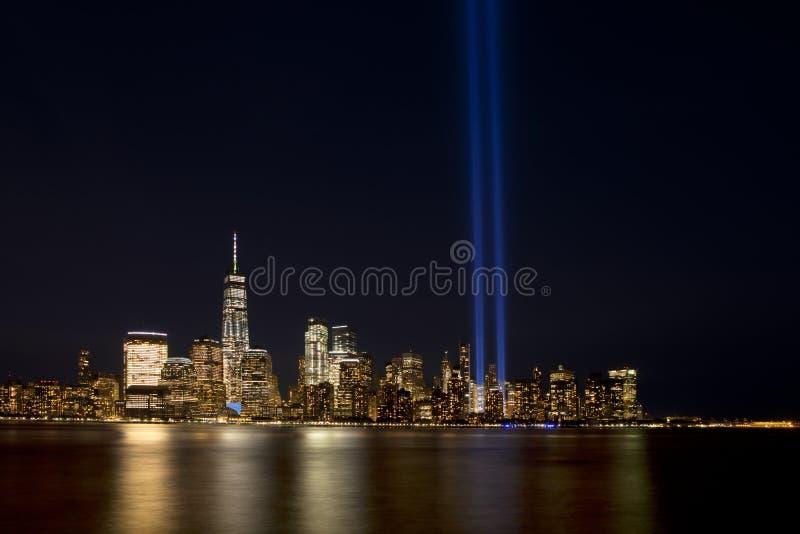 New- York Citylicht-Tribut 911 lizenzfreies stockfoto