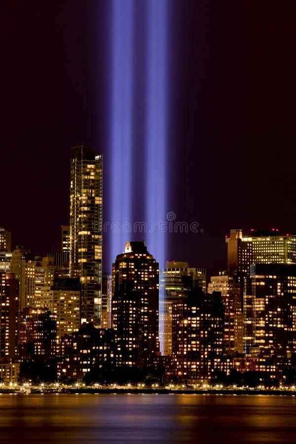 New- York Citylicht-Tribut 911 lizenzfreie stockfotos