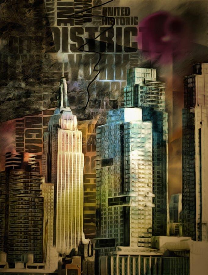 New- York Citymalerei stock abbildung