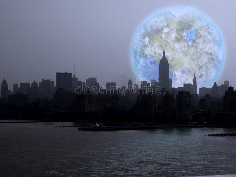 New- York Citynacht vektor abbildung