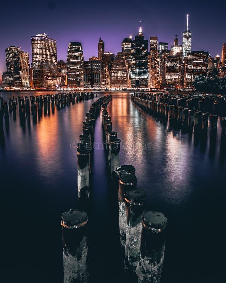 New- York Citynacht lizenzfreie stockbilder