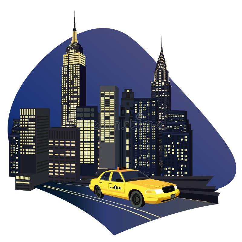 New- York Cityrollen stock abbildung